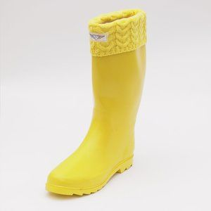 Women's Tall Rubber Rain Boots, RB-3104 Yellow